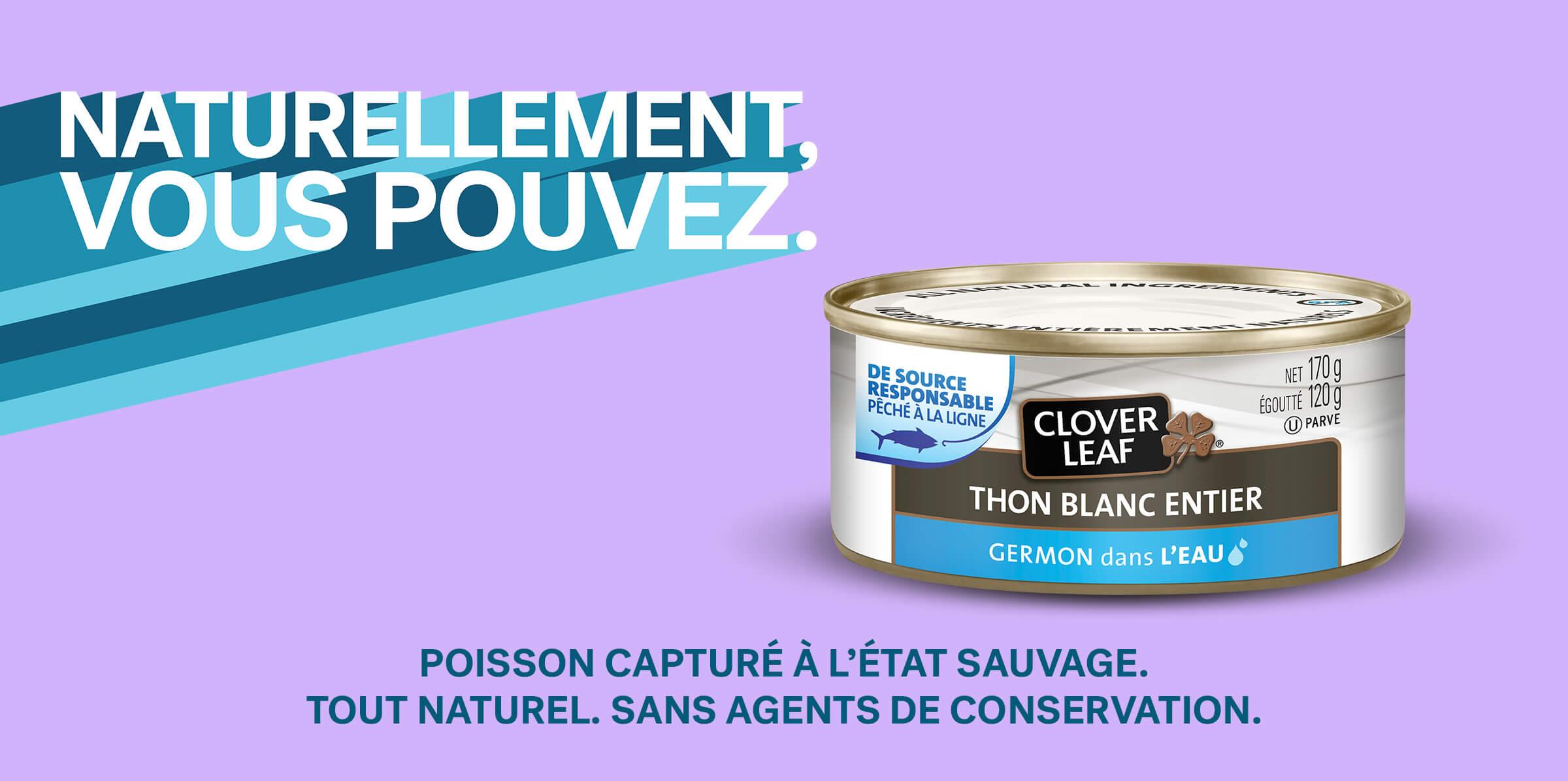 POISSON CAPTURÉ À L'ÉTAT SAUVAGE. TOUT NATUREL. SANS AGENTS DE CONSERVATION.